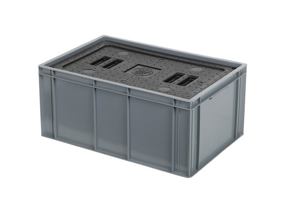 Isolatiebox-in-box met deksel - 600 x 400 x H273 mm - stapelbaar 30.526I