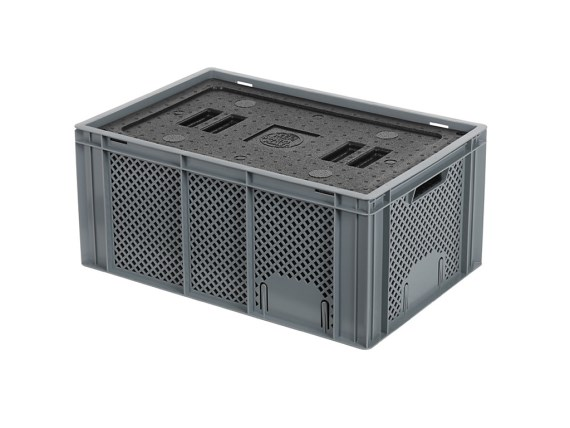 Isolatiebox-in-box met deksel - 600 x 400 x H274 mm - stapelbaar 30.426I
