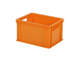 Bac gerbable / bac à assiettes SOLID LINE - 400 x 300 x H 236 mm - Orange (fond lisse)