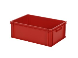 Bac gerbable Euronorm SOLID LINE - 600 x 400 x H 220 mm - Rouge (fond lisse)