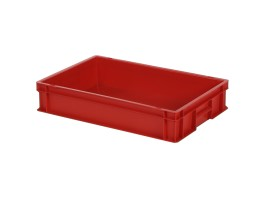 Bac gerbable Euronorm SOLID LINE - 600 x 400 x H 120 mm - Rouge (fond lisse)